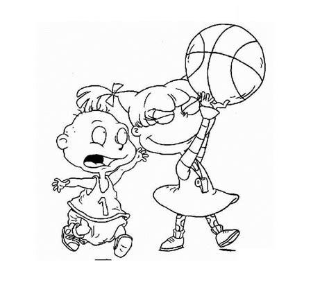 dibujos de nios peleando para colorear los rugrats jugando al baloncesto hd dibujoswiki com