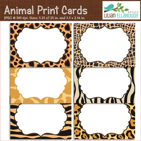 leopard print invitations templates animal print cards and invites printable set of six
