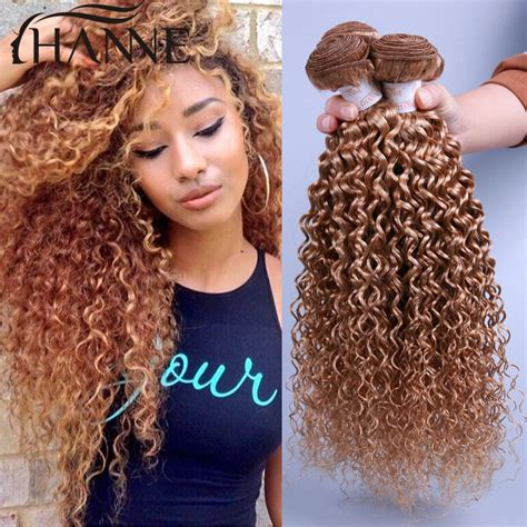 hair extensions wet and wavy look wet and wavy kinky curly 3 bundles honey blonde 27