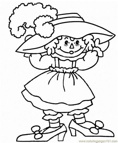 raggedy ann and andy coloring pages coloring home