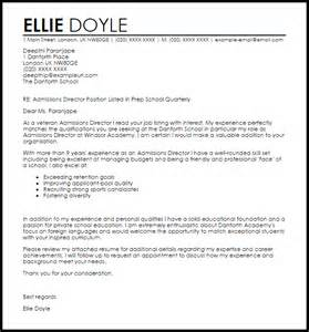 Admissions Director Cover Letter Sample Livecareer