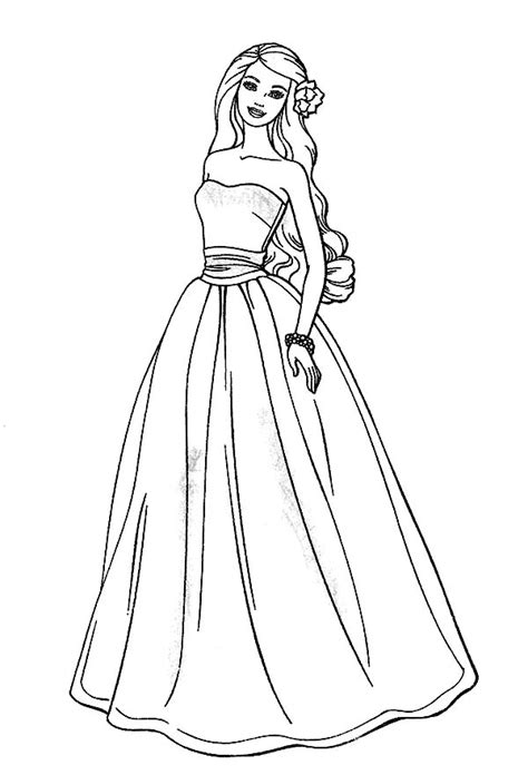 Barbie Model Coloring Pages | awesome barbie doll coloring page m 229 larbilder barbie