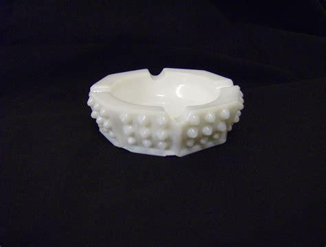 fenton white milk glass hobnail ashtray from marysmenagerie on ruby lane
