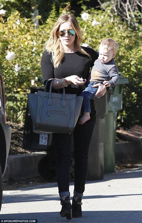 Hilary Duffs Dg Purse by Hilary Duff Totes Chanel Bag While Luca Snuggles