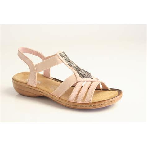 metallic sandals uk rieker rieker pink sandal with metallic bead trim and