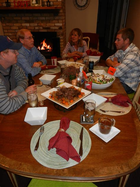 Family Dinner Table by Family At Dinner Table Beautifully Nutty