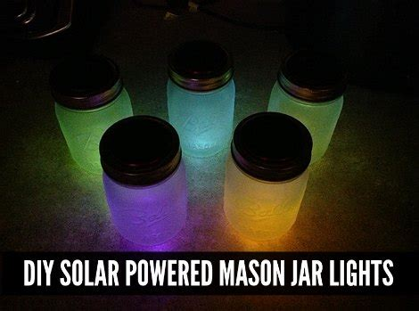 how to make solar powered jar lights diy solar powered jar lights