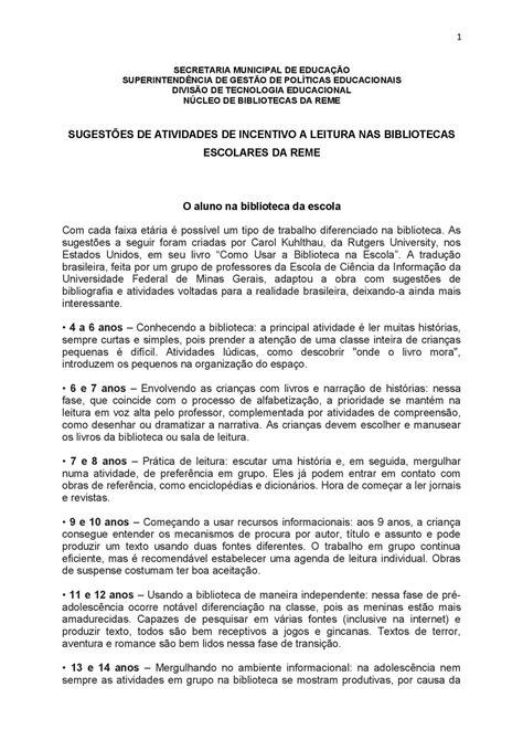 Calaméo - SUGESTÕES DE ATIVIDADES_LEITURA.DOC