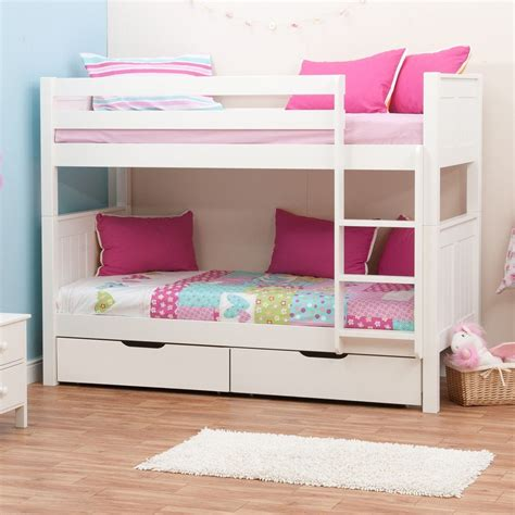 stompa bed stompa classic kids white bunk bed