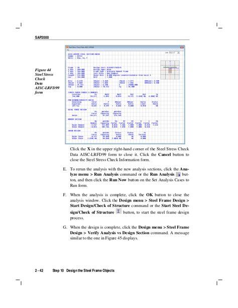 tutorial sap 2000 untuk pemula introductory tutorial for sap2000