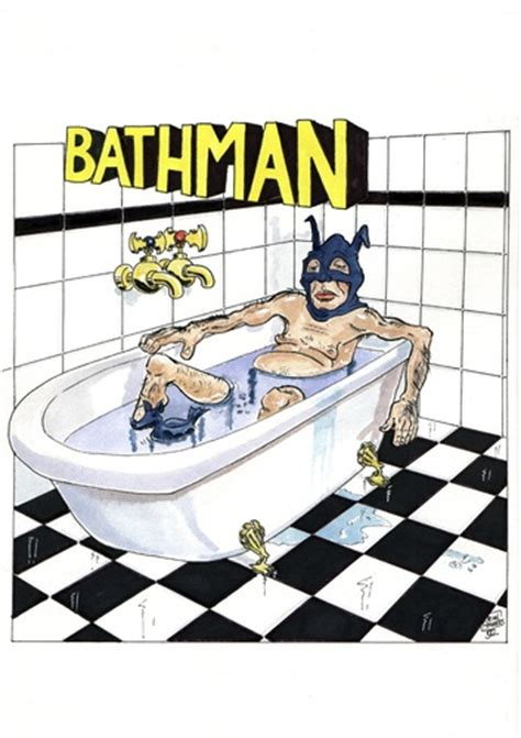 badewanne comic bathman by jean gouders media culture
