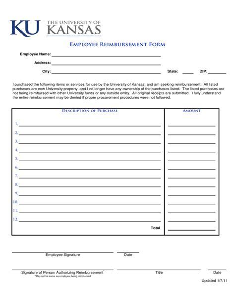 doc 728538 expense reimbursement form bizdoska com
