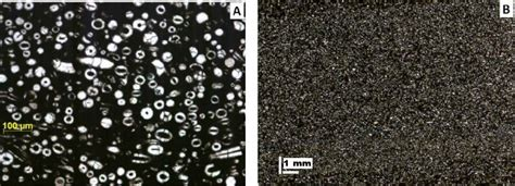 mudstone thin section a thin section photo of massive mudstone facies b