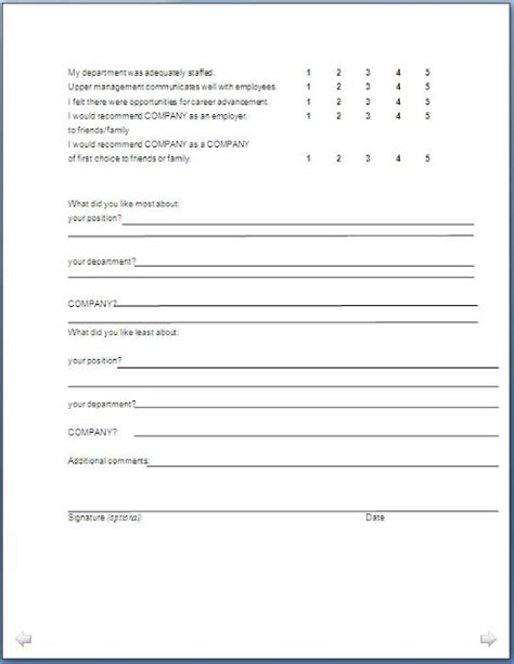 Exit Analysis Report Template Exit Form Format In Doc Pdf