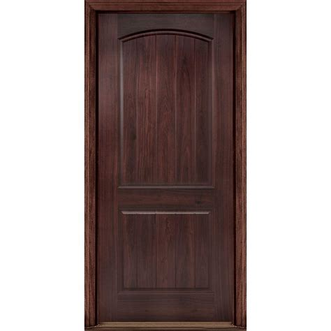walnut front doors masonite 36 in x 80 in avantguard 2 panel left