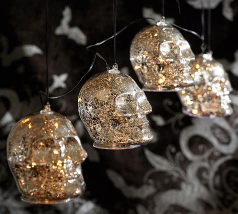 Skull Lights by Lit Silver Skull String Lights Pottery Barn