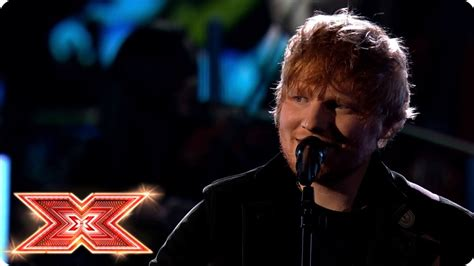 ed sheeran x factor watch ed sheeran delivers tender perfect performance on