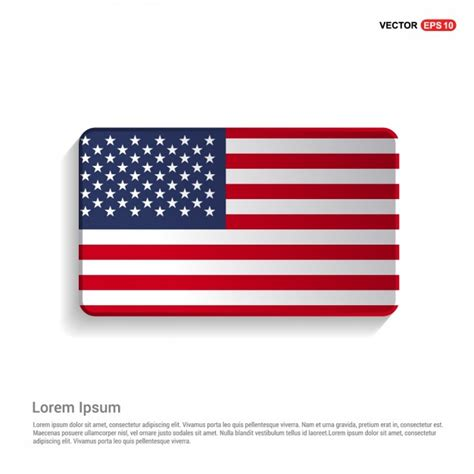 united states of america flag template vector free