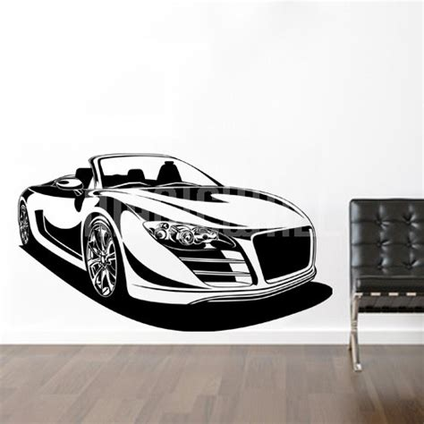 sports wall stickers wall decals convertible sport car wall stickers