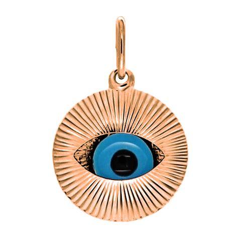925 sterling silver moving evil eye pendant
