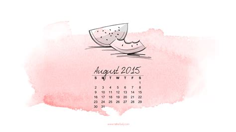Would You Rather Calendar 2015 Free August 2015 Desktop Calendar Rather Luvly