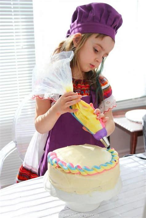 rainbow shopkins cake recipe   kids kitchen