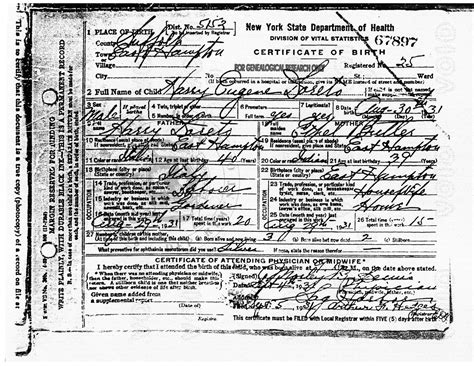 Ny State Vital Records Birth Certificate Abruzzo Journal