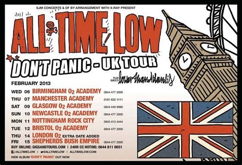 a for all time uk all time low 09 02 2013 dont panic tour volume