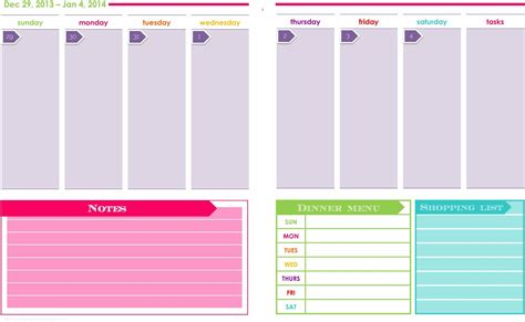 printable planner templates 2014 two page monthly calendar printable calendar template 2016