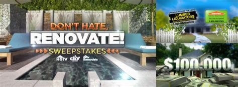 Dont Hate Renovate Sweepstakes - the lobby inc