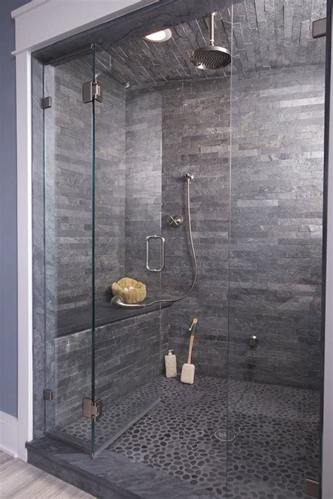 Bathroom Slate Tile Ideas 37 Grey Slate Bathroom Wall Tiles Ideas And Pictures