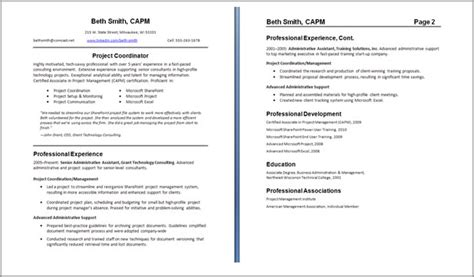 fascinating two page resume example 29 about remodel resume