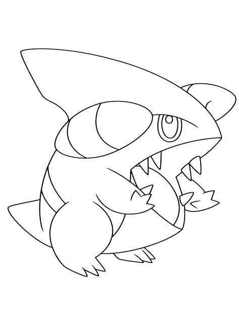 pokemon coloring pages gible pokemon coloring pages printable images pokemon images
