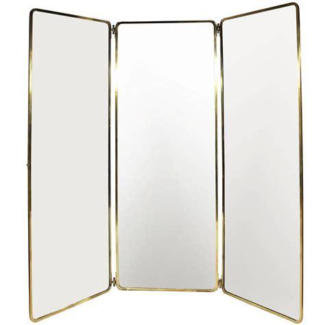 1930s full length brass folding mirror for sale at 1stdibs