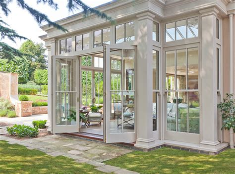 Traditional Sunrooms orangery with bi fold doors traditional sunroom other by vale garden houses