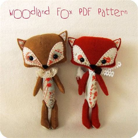 etsy fox pattern woodland fox pdf pattern instant download foxes