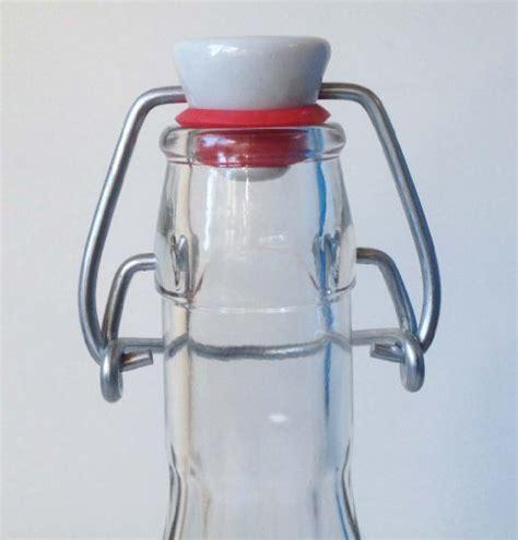 swing stopper nutleys 500ml fluted glass bottle and ceramic swing