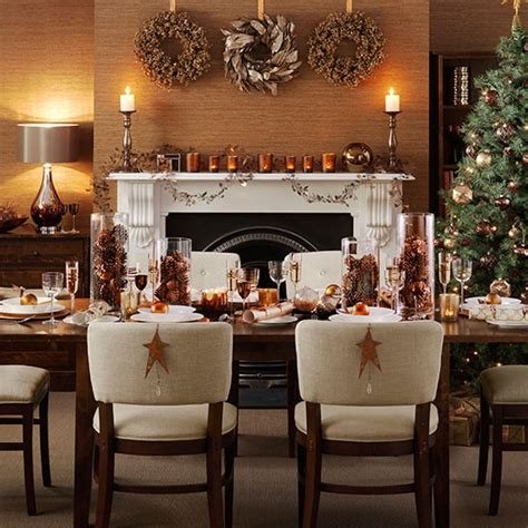 Country Bedroom Decorating Ideas christmas dining room with copper accessories decorating