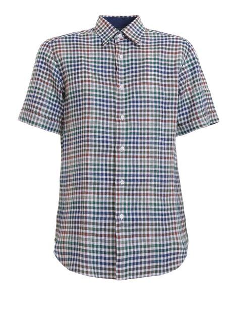 Sleeves Linen Shirt check linen sleeve shirt by brioni shirts ikrix