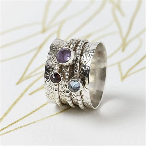Handmade Silver Rings With Gemstones - 17 best images about november birthstone topaz on