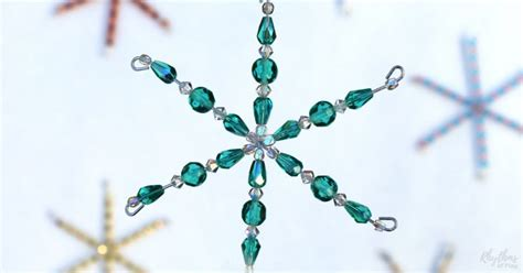 how to make a beaded snowflake how to make beaded snowflake ornaments rhythms of play