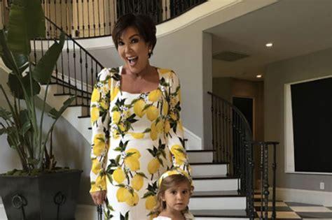 kris jenner foyer kris jenner is twinning with granddaughter penelope