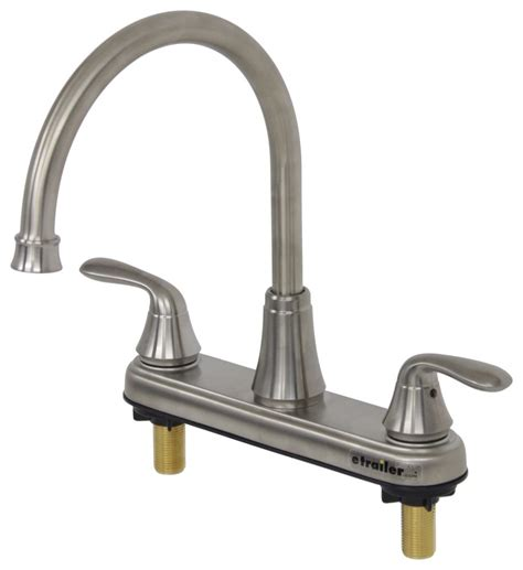 rv kitchen faucet parts faucets 8 quot dual handle rv kitchen faucet brushed