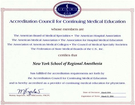 cme certificate template nysora newsletter may 2014 nysora the new york school of