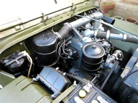 wwii jeep engine ww2 1943 ford gpw jeep first engine start youtube