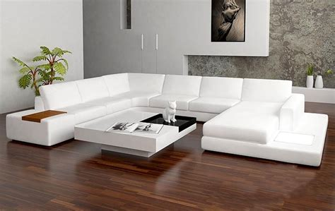 Tosh Sectional Sofa Tosh Furniture Modern White Leather Sectional Sofa Teachfamilies Org