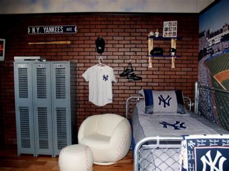 baseball bedroom wallpaper 32 edgy brick walls ideas for kids rooms digsdigs
