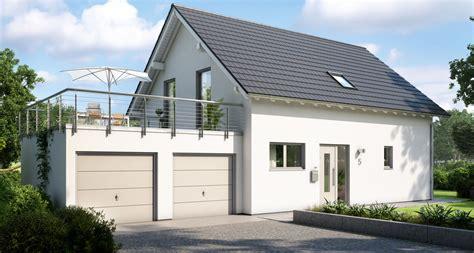Dachterrasse Auf Garage Bauen by Ihr Massivhaus Mit Garage Kern Haus
