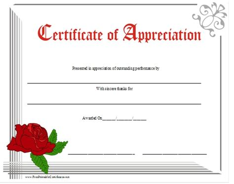 certificate of appreciation for teachers template 11 best images about certificates of appreciation for