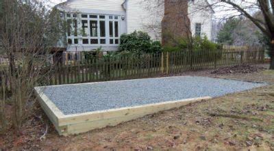 build  gravel foundationbase   shed  detailed tutorial   home backyard